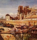 Jongkind Johan Berthold Notre Dame de Paris Seen from the Pont de L Archeveche