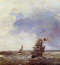 Jongkind Johan Berthold Ships at Sea