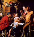Jordaens Jacob A satyr and a peasant family Sun