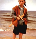 Larson Jeffrey 1999 The Age Of Seven Portrait Of Artists Son 36by62in