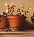 Larson Jeffrey 2001 Potted Flowers 18by24in