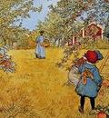 Carl Larsson Apple Orchard, De