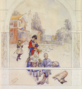 larsson carl swedish 1853 to 1919 my loved ones snd sundborn 1893 watercolor on paper 45 1 by