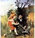 ls Larsson 1877 Clair obscur oil