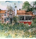 ls Larsson 1894 97 The cottage watercolor