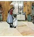ls Larsson 1894 The Kitchen watercolor