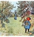 ls Larsson 1903 Apple Harvest watercolor