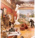 ls larsson2 12 interior de la galeria furstengerg en gooteborg watercolor