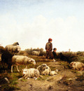 cornelis van leemputten shepherd boys with their flock