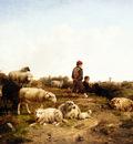 cornelis van leemputten shepherd boys with their flock