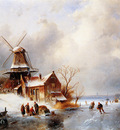 Leickert Charles Dutch winter scene