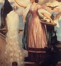 Leighton A Girl Feeding Peacocks