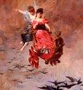 Leloir Alexandre Louis A Chariot Of Swallows
