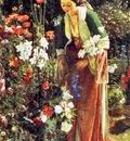 John Frederick Lewis Dans le jardins du Bey, De