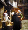L Hermitte Leon Augustin The Butter Market