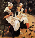 Liebermann Max Amsterdam orphans in garden Sun
