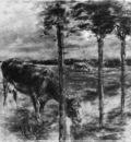 Liebermann Max Drinking cow Sun