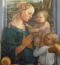 Lippi Madonna and Child with Angels, 1457 1465, 95x62 cm, Uf