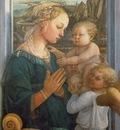 Lippi Madonna and Child with Angels, 1457 1465, 95x62 cm, Uf