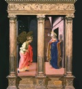 Lippi The Annunciation, c 1440, each 63 8x25 1 cm, Frick col