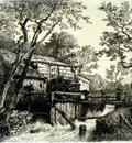 Achenbach Andreas Mill Beside a Stream