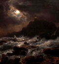 Achenbach Andreas Norwegian Coast by Moonlight