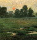 Adams John Ottis An August Sunset Prarie Dell