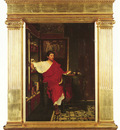 Alma Tadema Sir Lawrence British 1836 1912 A Roman Scribe Writing Dispatches O P 55 9 by 39 4 c