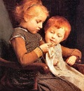 Albert Anker The Little Knitters, De
