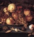 still life dish fruit
