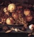 still life dish fruit