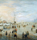 Avercamp Hendrick Merriment on ice