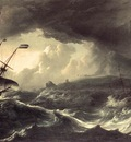 BACKHUYSEN Ludolf Ships Running Aground In A Storm