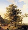 Bakhuyzen Hendrik Van de Sande A Halt Along The Way
