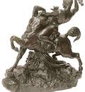 Barye Antoine Louise Thesee combatant le centaure Bienor 2e reduction dt1