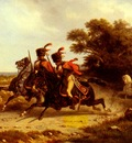 Bellange Joseph Louis Hippolyte Hussards Escortant Napoleon