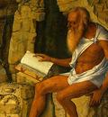 BELLINI,G  SAINT JEROME READING, 1480 1490, DETALJ 2, NGW