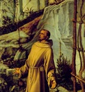 Bellini,Giovanni St Francis in the desert, Detalj, ca 1480,