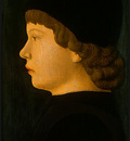 bellini,j, attr  profile portrait of a boy, probably c