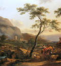 Berchem Nicolaes Wooded landscape Sun