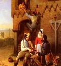 Bernard Adolphe Flirtation At The Town Gate
