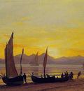 Boats Ashore At Sunset