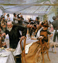 Birger Hugo Artists breakfast in Cafe Ledoyen Sun