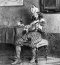 Blanchi Pio Lute player in 17th century interior Sun