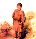Piegan Blackfeet girl KarlBodmer sqs