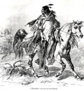 A Blackfeet warrior on horseback KarlBodmer sqs