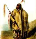 Kb 0001 Pehriska Ruhpa Minatarre or Big Bellied Indian KarlBodmer, 1833 sqs