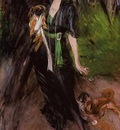 Boldini Giovanni Portrait of a Lady Lina Bilitis with Two Pekinese