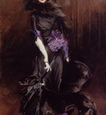 Boldini Giovanni Portrait of the Marchesa Luisa Casati with a Greyhound
