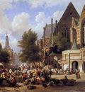 Bommel van Elias Pieter Marketscene in Amsterdam Sun